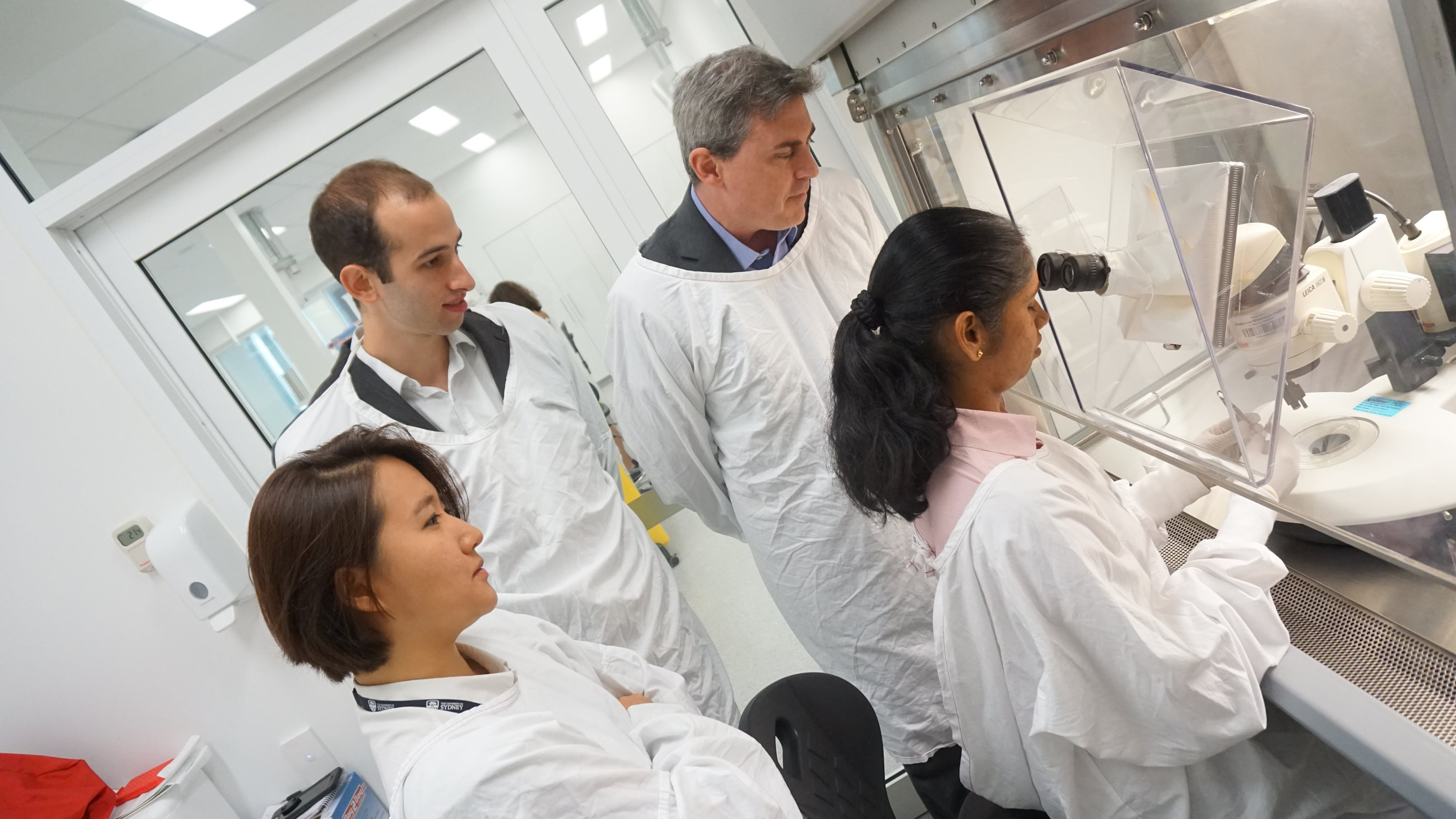 Dr Andrew White (Back right) and members of the Glaucoma Cell Biology Group