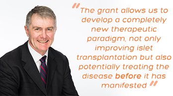 Type 1 diabetes researcher Professor Phil O'Connell